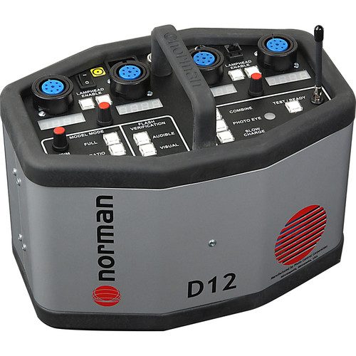 Norman D12R Rapid Power Pack with Radio Slave - 1200 W/S