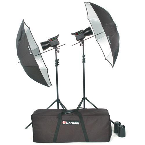 Norman Allure C1000 2 Lights/Umbrellas/Stands Kit