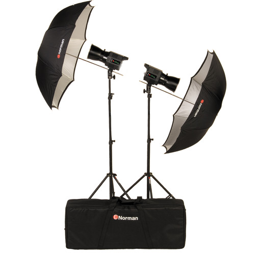 Norman 812788 Allure Two Light Basic Travel Kit (120VAC/12VDC)