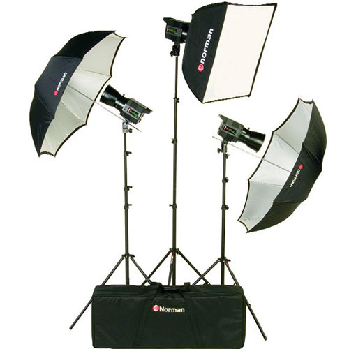 Norman Allure 3-Light Portrait Kit (120 VAC/12 VDC)