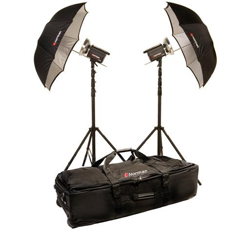 Norman 2 Monolight Umbrella Travel Kit (120VAC)