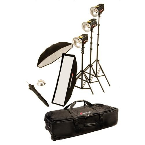 Norman 3 Monolight Softbox/Umbrella Kit (120VAC)
