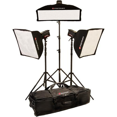 "Norman 3 ""R"" Monolight, 3 Softbox Kit (120VAC)"