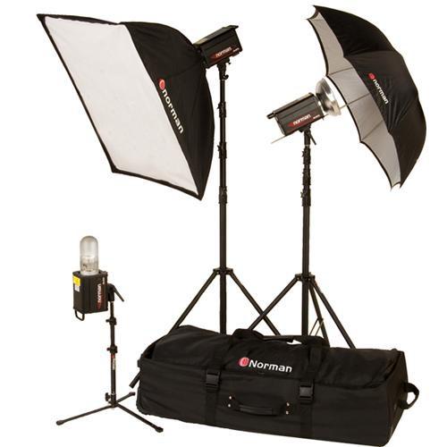 Norman 3 Monolight, Umbrella/Softbox Kit (120VAC)