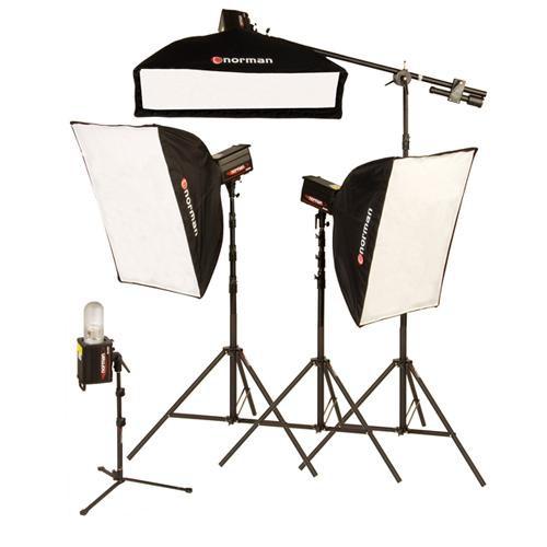 "Norman 4 ""R"" Monolight, 3 Softbox Studio Boom Kit (120VAC)"