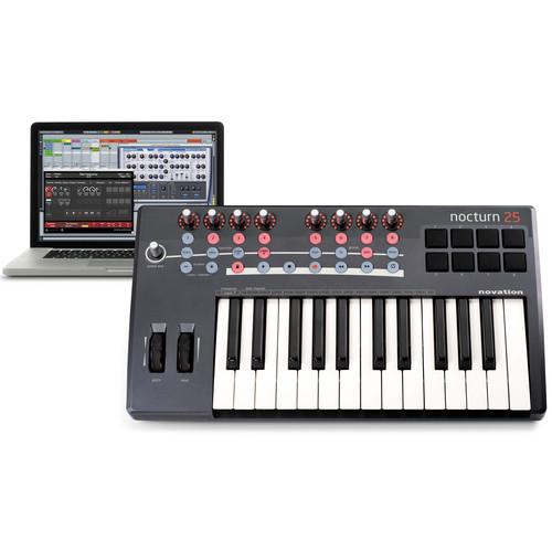 Novation Nocturn 25 - USB/MIDI Plug-In/Sequencer Controller