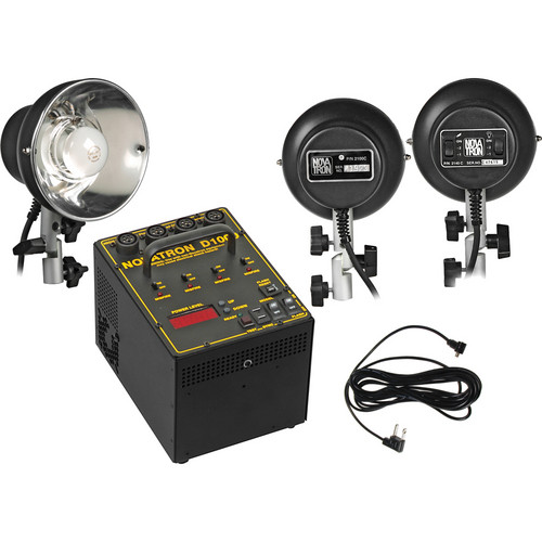 Novatron D1000 3 Head Basic Pro Kit - Includes: 1000 Watt/Second Power Pack, 2- 2140C, 1- 2100C Flash Heads, Sync Cord - NO Umbrellas, Stands or Case
