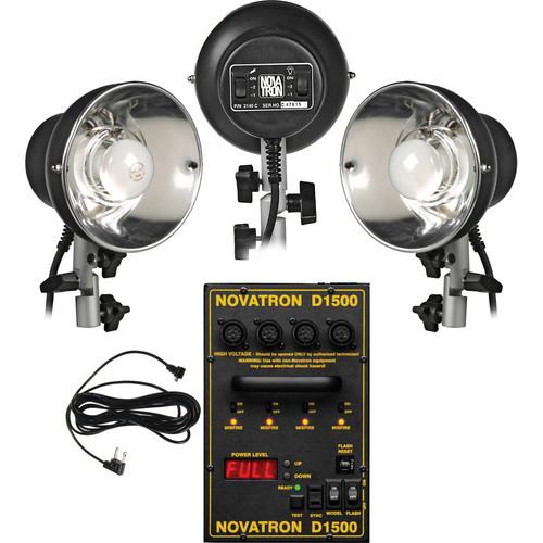 Novatron 1500 Ws 3 Light Basic Pro Kit (120VAC)