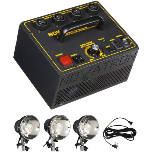 Novatron V400-D 400 W/S 3- Light Kit No Stands Umbrellas or Case