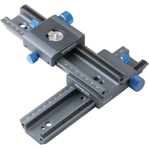 Novoflex CROSS-MC Double Rail Focusing Rack Kit w/ MiniConnect QR Plate