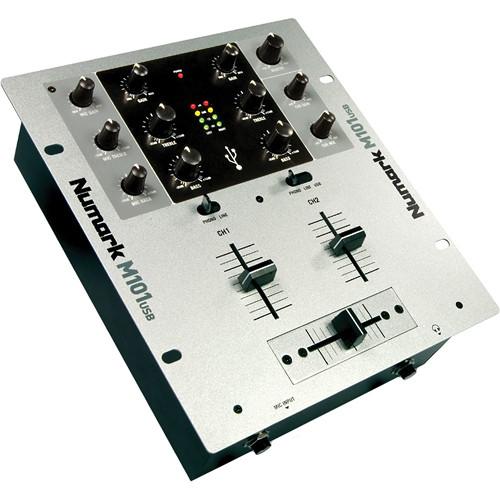 Numark M101USB 2-Channel DJ Mixer (Silver)
