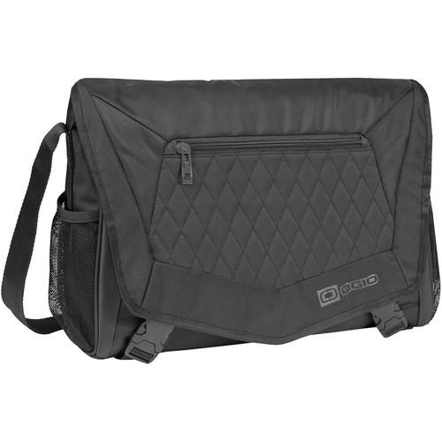 """OGIO Vamp Medium Messenger Shoulder Bag with 16"""" Laptop Pocket (Covert Black)"""