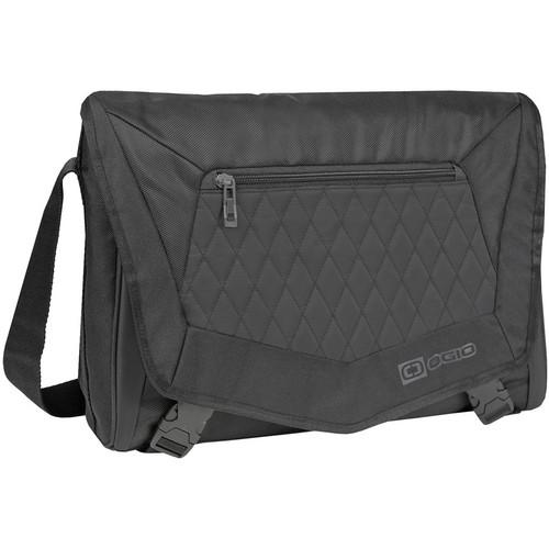 """OGIO Vamp Small Messenger Shoulder Bag with 16"""" Laptop Pocket (Covert Black)"""