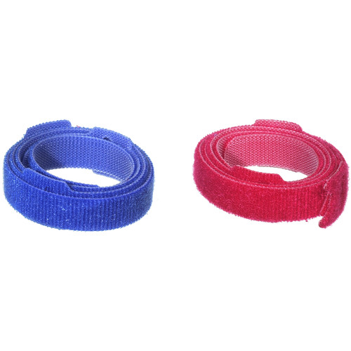OP/TECH USA STRAPEEZ Cable Management Straps (Assorted Red and Royal Blue, Pack of 6)