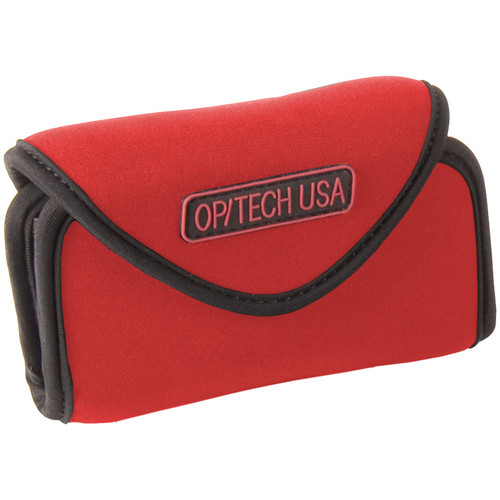 OP/TECH USA Snappeez Soft Pouch, Large Wide Body Horizontal (Red)