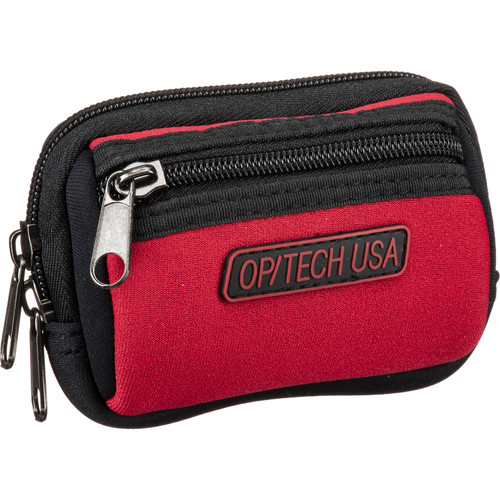 OP/TECH USA Zippeez Soft Pouch, Small (Red)