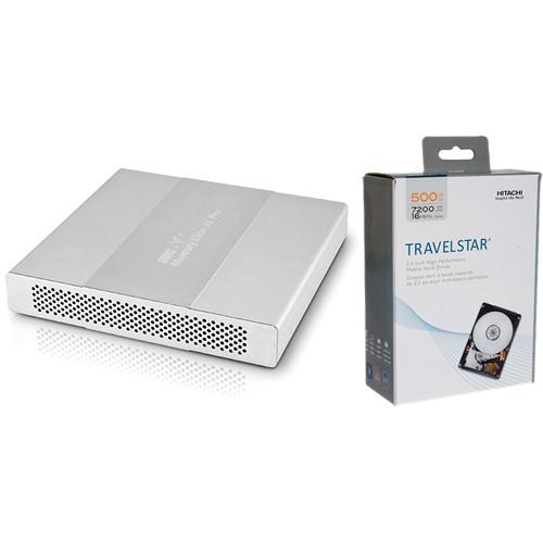 OWC / Other World Computing 1TB (2x 500GB) Mercury Elite-Al Pro Dual mini RAID Enclosure Kit with Hard Drives