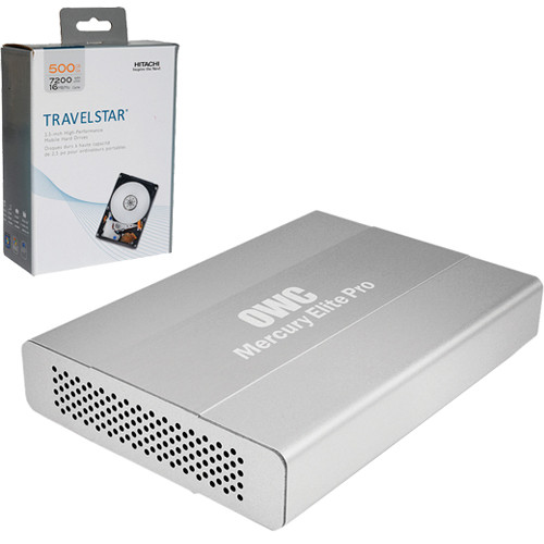 """OWC / Other World Computing 500GB Travelstar 2.5"""" SATA Mobile Hard Drive Kit & Mercury Elite Pro Mini Combo Interface Case B&H Kit"""