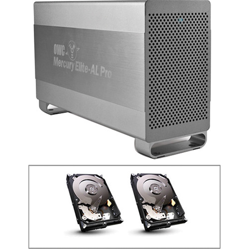 OWC / Other World Computing 4TB Mercury Elite Pro RAID 0 Enclosure Kit (Dual 2TB HD)