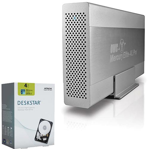 OWC / Other World Computing Mercury Elite Pro Quad Interface Storage Enclosure with 4TB Deskstar SATA Hard Drive B&H Kit