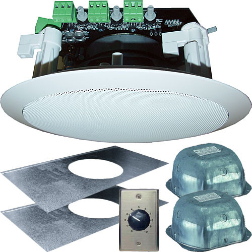 "OWI Inc. AMP3S62SVC Self-Amplified 3-Source 6"" Ceiling Speaker Kit"