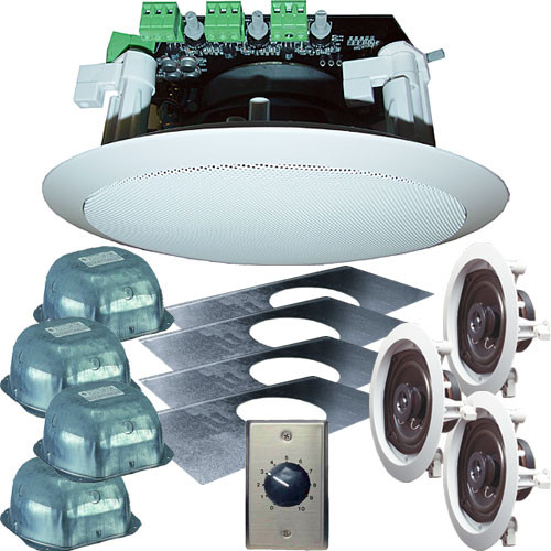 "OWI Inc. AMP3S64SVC Self-Amplified 3-Source 6"" Ceiling Speaker Kit"