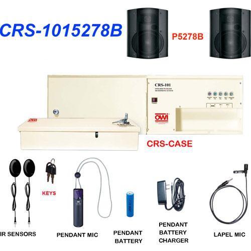 OWI Inc. CRS-1015278B  Infrared Wireless Microphone & Speaker Package (Black)