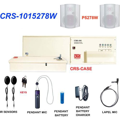 OWI Inc. CRS-1015278W  Infrared Wireless Microphone & Speaker Package (White)