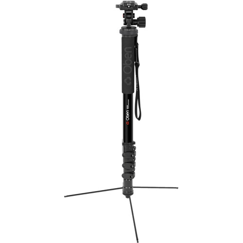 Oben ACM-2400L 4-Section Aluminum Self-Standing Monopod w/ VH-R2 Tilt Monopod Head Kit