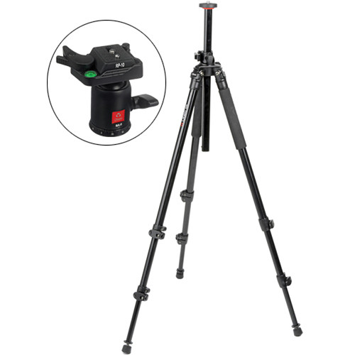 Oben AC-2310L 3-Section Aluminum Lateral Tripod with BA-0 Ball Head Kit
