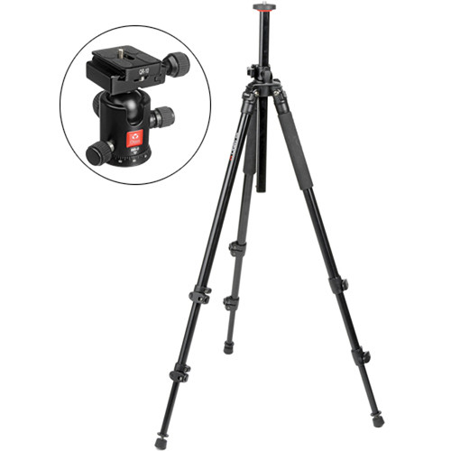Oben AC-2310L 3-Section Aluminum Lateral Tripod with BB-0 Ball Head Kit