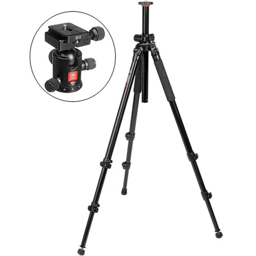 Oben AC-2320L 3-Section Aluminum Lateral Tripod with BB-0 Ball Head Kit
