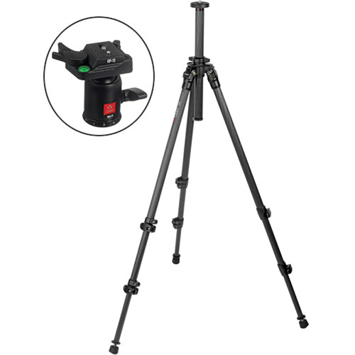 Oben CC-2300 3-Section Carbon Fiber Tripod with BA-0 Ball Head Kit