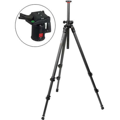 Oben CC-2310L 3-Section Carbon Fiber Lateral Tripod with BA-2 Ball Head Kit