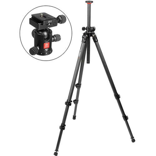 Oben CC-2310L 3-Section Carbon Fiber Lateral Tripod with BB-0 Ball Head Kit