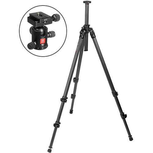 Oben CC-2310 3-Section Carbon Fiber Tripod with BB-0 Ball Head Kit