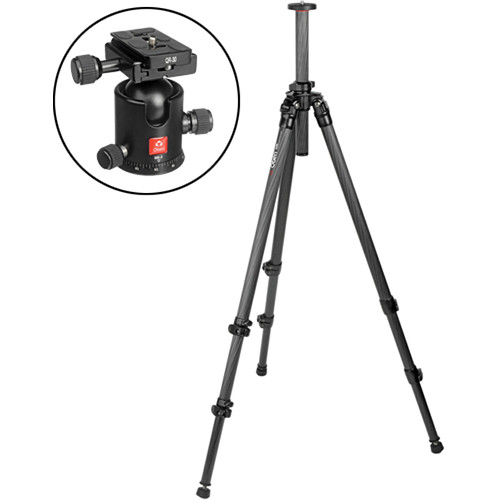 Oben CC-2320 3-Section Carbon Fiber Tripod with BB-2 Ball Head Kit