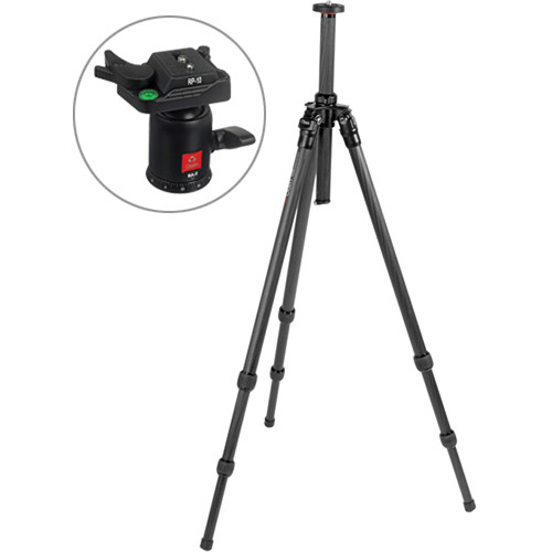 Oben CT-2300 3-Section Carbon Fiber Tripod with BA-0 Ball Head Kit