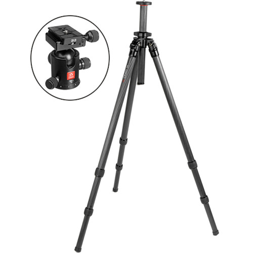 Oben CT-2320 3-Section Carbon Fiber Tripod with BB-1 Ball Head Kit