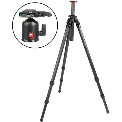 Oben CT-2320 3-Section Carbon Fiber Tripod with BA-2 Ball Head Kit