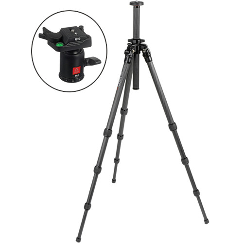Oben CT-2400 4-Section Carbon Fiber Tripod with BA-0 Ball Head Kit