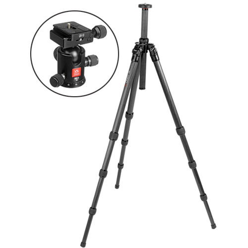 Oben CT-2410 4-Section Carbon Fiber Tripod with BB-0 Ball Head Kit