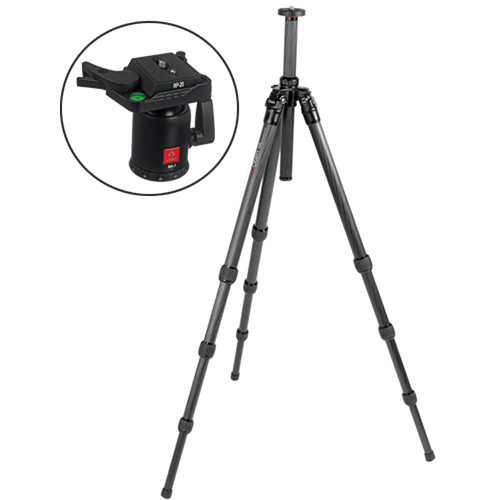 Oben CT-2410 4-Section Carbon Fiber Tripod with BA-1 Ball Head Kit