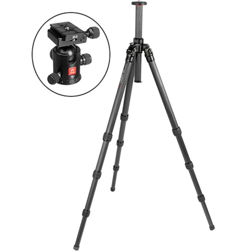 Oben CT-2420 4-Section Carbon Fiber Tripod with BB-1 Ball Head Kit
