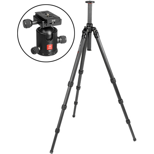 Oben CT-2420 4-Section Carbon Fiber Tripod with BB-2 Ball Head Kit