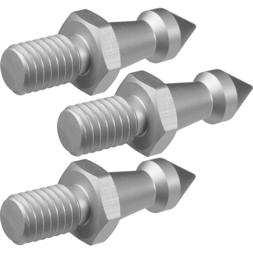 """Oben Metal Spikes (3 Pieces) for 3/8""""-16 Threaded Tripod Legs"""