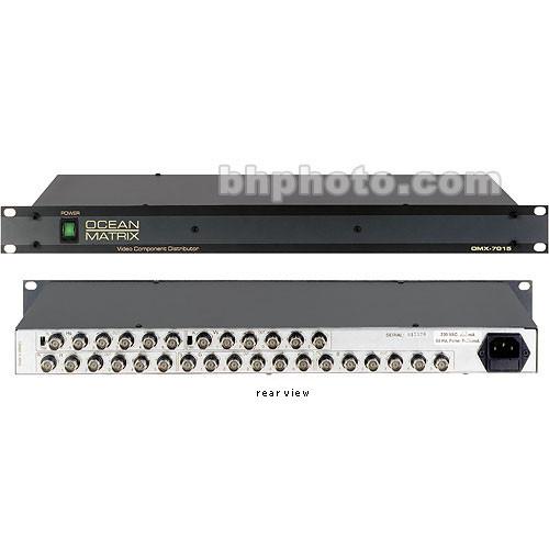 Ocean Matrix OMX-7015 1x5 RGBHV Distribution Amplifer, BNC