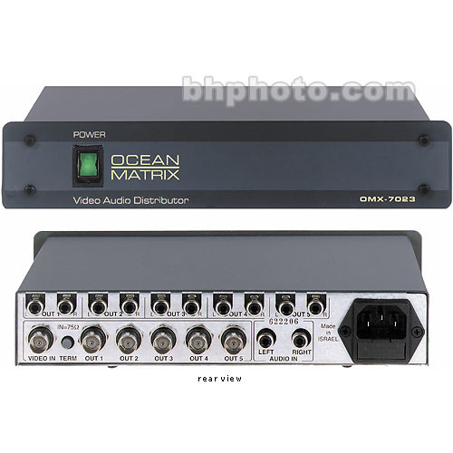 Ocean Matrix OMX-7023 1x5 Video and Audio DA