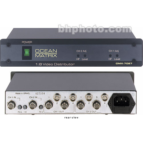 Ocean Matrix OMX-7027 1x8 Video Distribution Amplifier