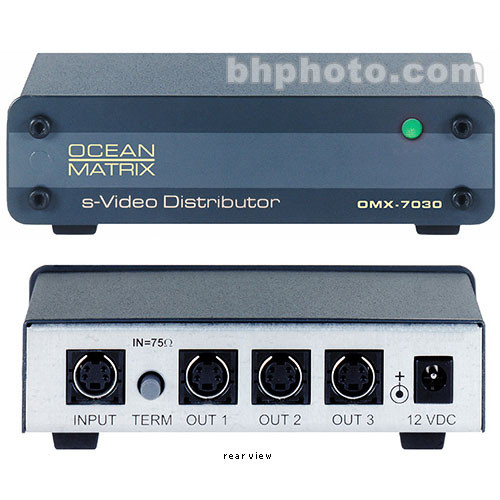 Ocean Matrix OMX-7030 1x3 Y/C (S-Video) Distribution Amplifier